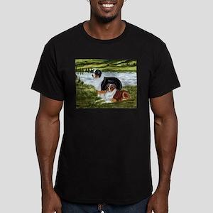 Aussie Tri Buddies Men's Fitted T-Shirt (dark)