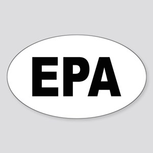EPA Environmental Protection Agency Oval Sticker