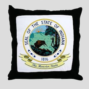 Indiana Seal Throw Pillow