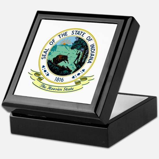 Indiana Seal Keepsake Box