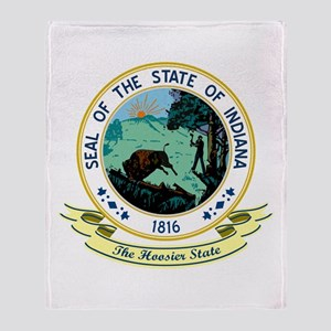 Indiana Seal Throw Blanket