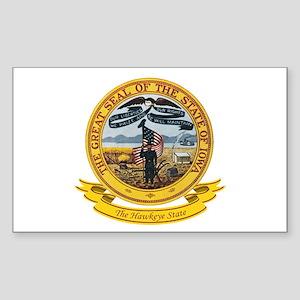 Iowa Seal Sticker (Rectangle)