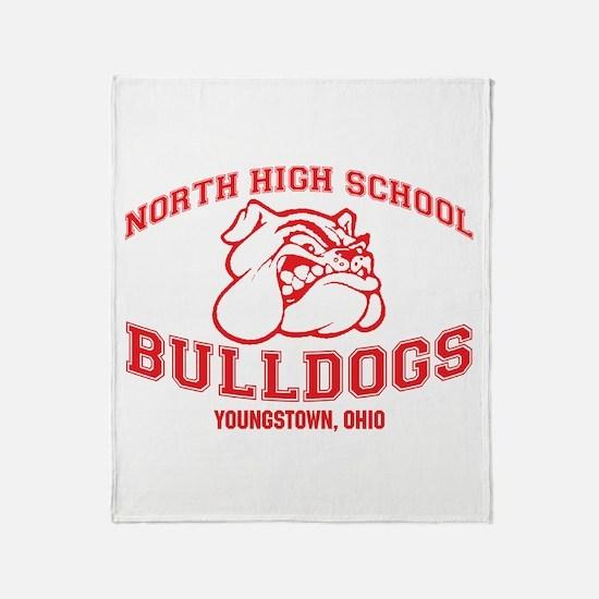 North High School Bulldogs Throw Blanket