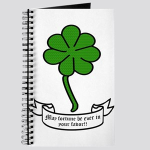 7 leaf clover - May fortune be ever in you Journal