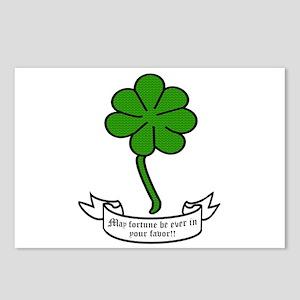7 leaf clover - May fortu Postcards (Package of 8)