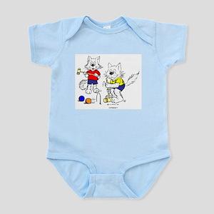 Croquet Cats Infant Bodysuit