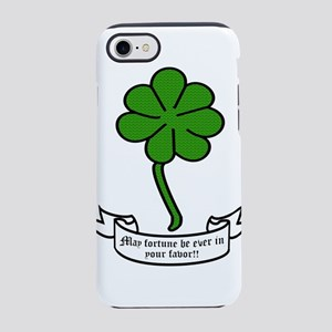 7 leaf clover - May fortune be iPhone 7 Tough Case
