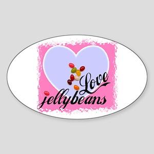 LOVE JELLYBEANS Oval Sticker