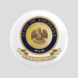 """Louisiana Seal 3.5"""" Button"""