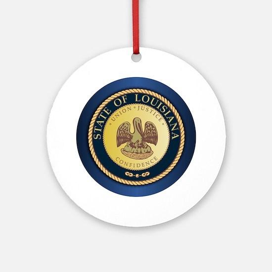 Louisiana Seal Ornament (round)