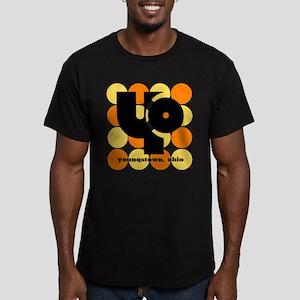 YO! Yellow/Orange Men's Fitted T-Shirt (dark)