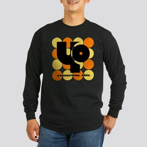 YO! Yellow/Orange Long Sleeve Dark T-Shirt