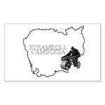 Steamroll Cambodia Sticker (Rectangle 10 pk)