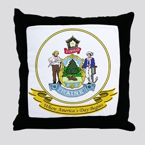 Maine Seal Throw Pillow