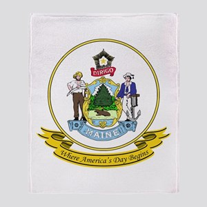 Maine Seal Throw Blanket