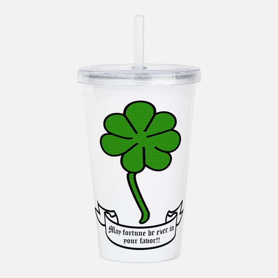 7 leaf clover - May fo Acrylic Double-wall Tumbler