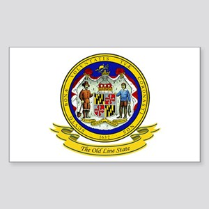 Maryland Seal Sticker (Rectangle)