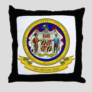Maryland Seal Throw Pillow