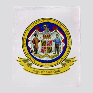 Maryland Seal Throw Blanket