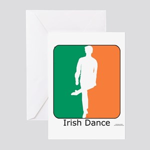 Irish Dance Tricolor Boy Greeting Cards (Pk of 20)
