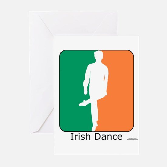 Irish Dance Tricolor Boy Greeting Cards (Pk of 20)