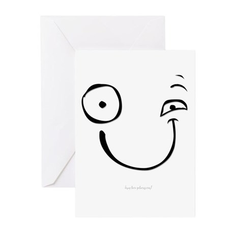 Happy Face (twitch) - Greeting Cards (Pk of 20)
