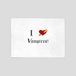 I Slay Vampires 5'x7'Area Rug