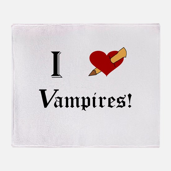 I Slay Vampires Throw Blanket