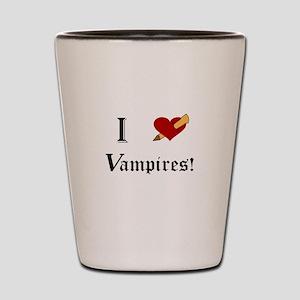 I Slay Vampires Shot Glass