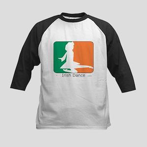 Irish Dance Tricolor Girl Kids Baseball Jersey