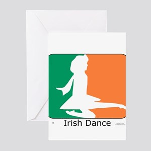 Irish Dance Tricolor Girl Greeting Cards (Pk of 20