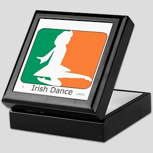 Irish Dance Tricolor Girl Keepsake Box