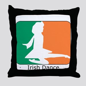 Irish Dance Tricolor Girl Throw Pillow