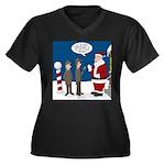 Scout Orient Women's Plus Size V-Neck Dark T-Shirt