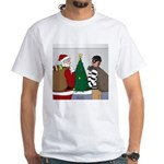 Santa and a Robber Men's Classic T-Shirts