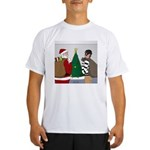 Santa and a Robber Performance Dry T-Shirt