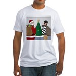 Santa and a Robber Fitted T-Shirt