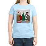 Santa and a Robber Women's Classic T-Shirt
