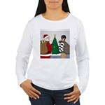 Santa and a Robber Women's Long Sleeve T-Shirt