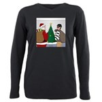 Santa and a Robber Plus Size Long Sleeve Tee