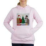 Santa and a Robber Women's Hooded Sweatshirt