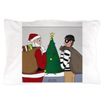 Santa and a Robber Pillow Case
