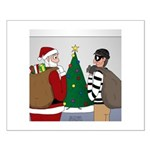 Santa and a Robber Small Poster