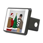 Santa and a Robber Rectangular Hitch Cover