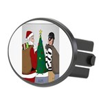 Santa and a Robber Oval Hitch Cover