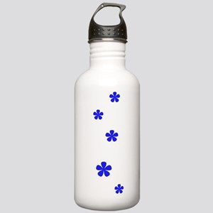 Blue Flowers 60s Style Stainless Water Bottle 1.0L