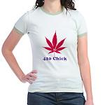 420 Chick Jr. Ringer T-Shirt