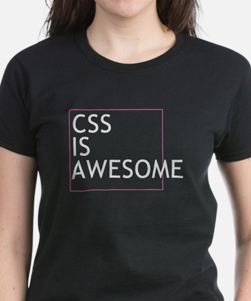 CSS is Awesome Women's Dark T-Shirt