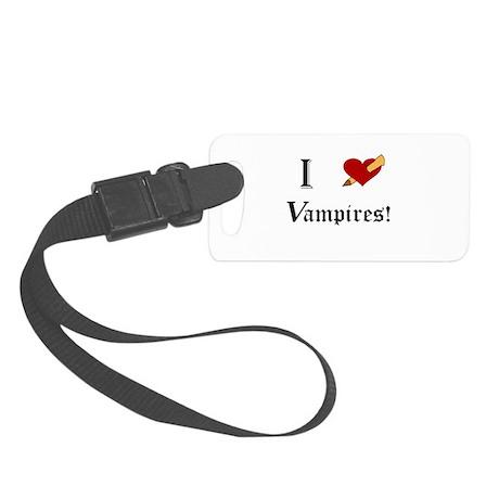 I Slay Vampires Small Luggage Tag