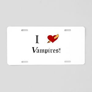 I Slay Vampires Aluminum License Plate